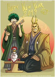 HAPPY NEW YEAR 2019 by Nekoi-Echizen