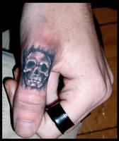 Thumb skull by DarkArtsColective