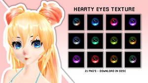 Hearty Eyes textures MMD download by Pikagum