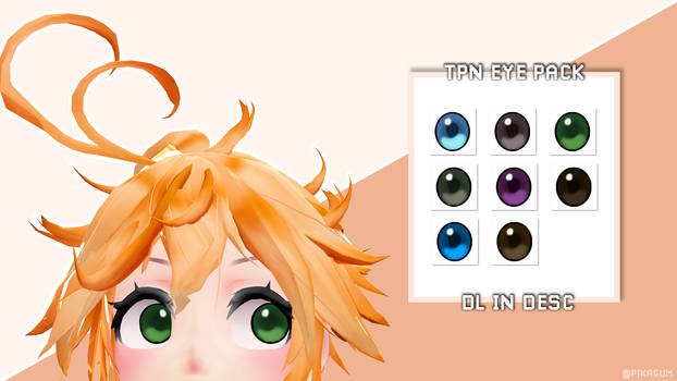 THE PROMISED NEVERLAND EYE TEXTURE PACK [MMD DL] by Pikagum