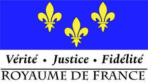 Kingdom of France Official Logo and Motto (V2)