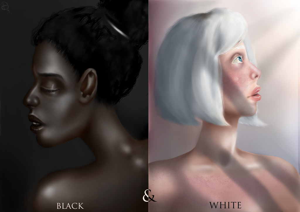 White And Black by HelgaDi