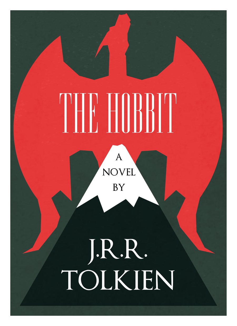 Minimalist Book Cover Posters ~ A new hobbit book cover poster design thehobbit