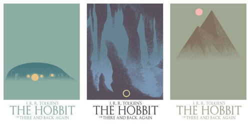 three the hobbit posters/book covers