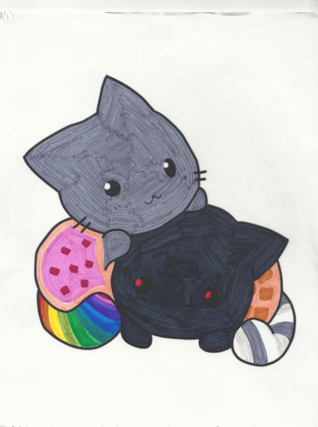 Nyan cat coloring page by jaybird28 on DeviantArt