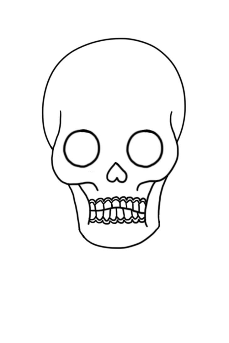 Skull Line Drawing Easy : Skull line art by jaybird on deviantart
