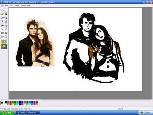 Bella and Edward on Paint
