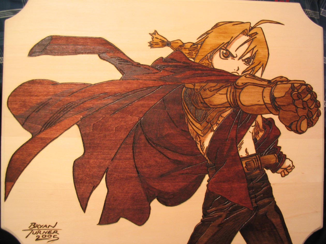 Edward Elric Woodburn by Obidesuka