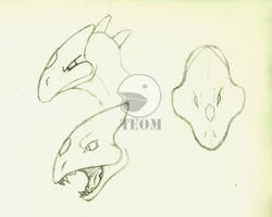 Reptilicus Hunter Rough Sketch