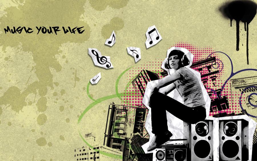 Music Graffiti Wallpaper By Mikanx