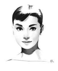 Audrey Hepburn Speedpaint by bib0un