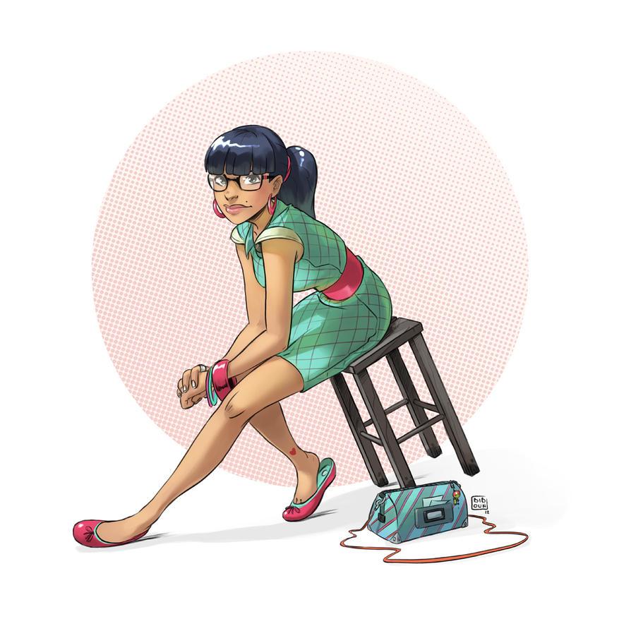 Girl summer color by bib0un
