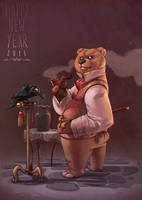 Happy New Bear 2015 by bib0un