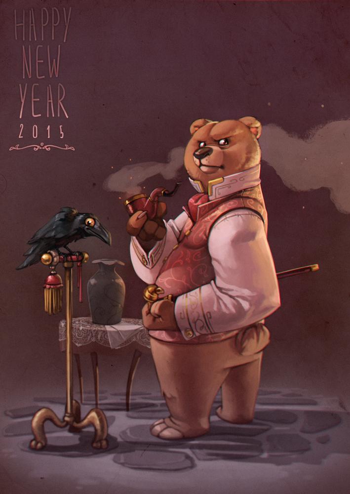 Happy New Bear 2015 by bib0un