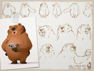 Grumpy bear by bib0un