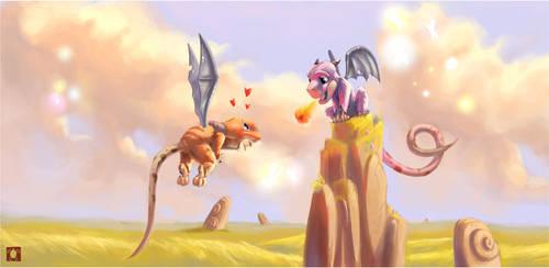 Dragons luv by bib0un