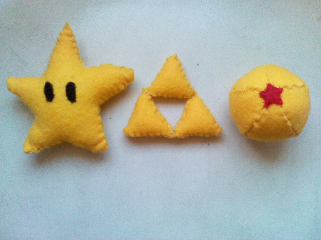 Invincible Star, the Triforce and a Dragonball by mirageant