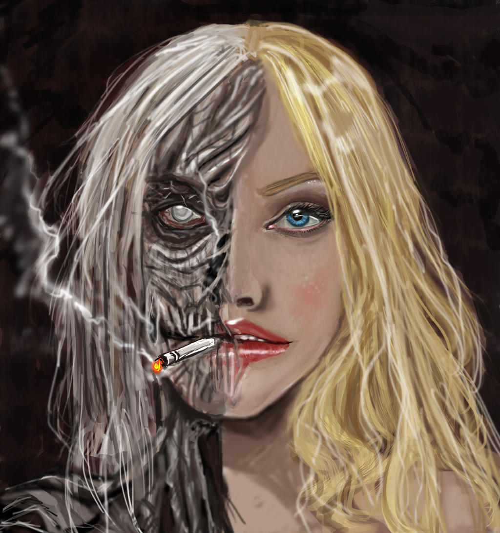 Smoking: Deterioration (Make Ugly Contest) by Kumensia