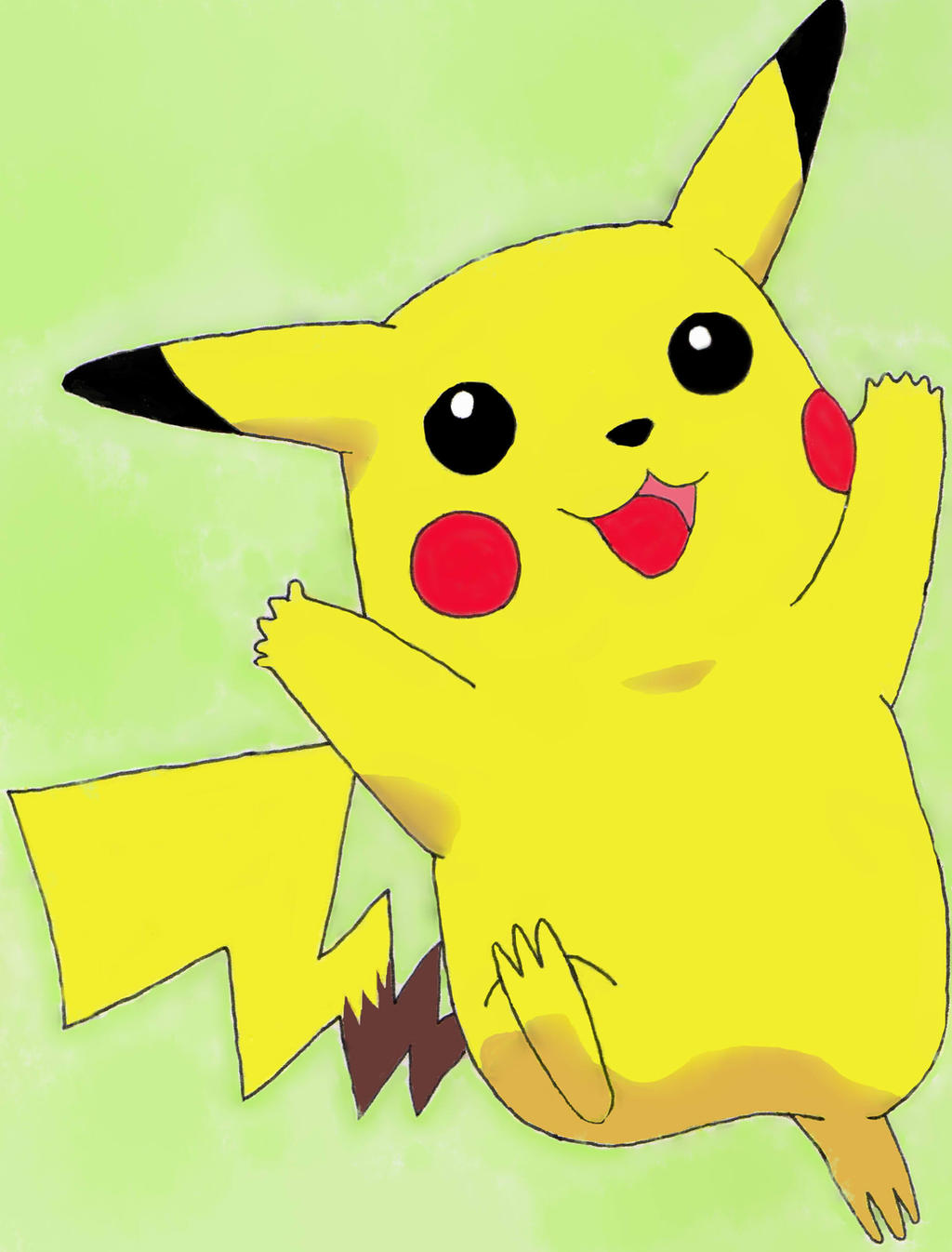 Happy Pikachu by WishingDreamer5