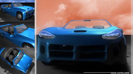 car blue X