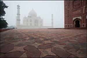 Morning in Taj Mahal