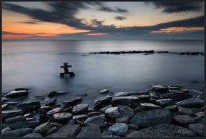 Morning of Inukshuk by IgorLaptev