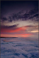 Lake Simcoe in March by IgorLaptev