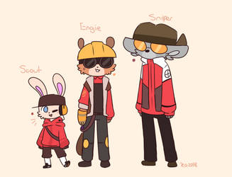 Team Furtress 2 Characters (Winter Attire) by Puppiii
