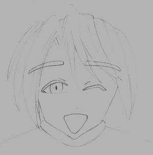 Manga Face2 sketch by Helium2k