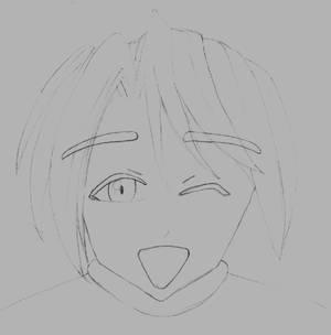 Manga Face2 sketch by Helium2k