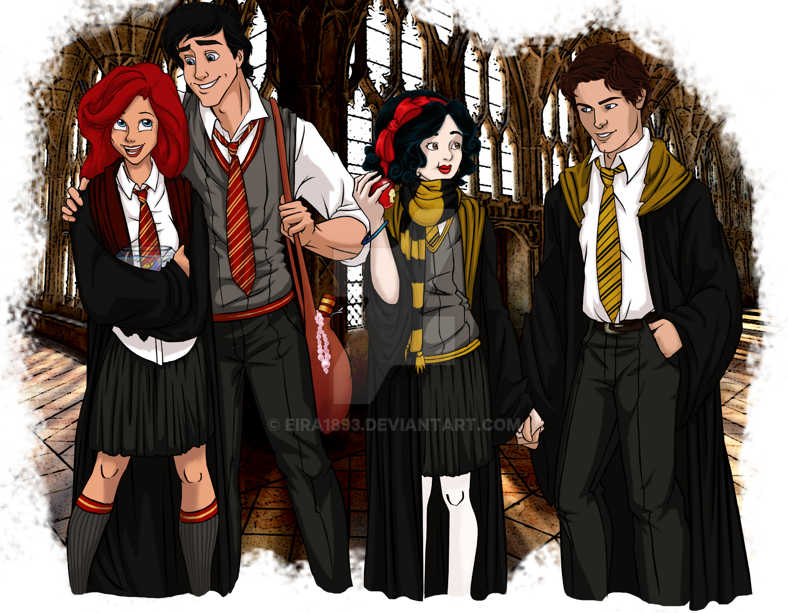 Anime Characters Hogwarts Houses : Disney at hogwarts by eira on deviantart