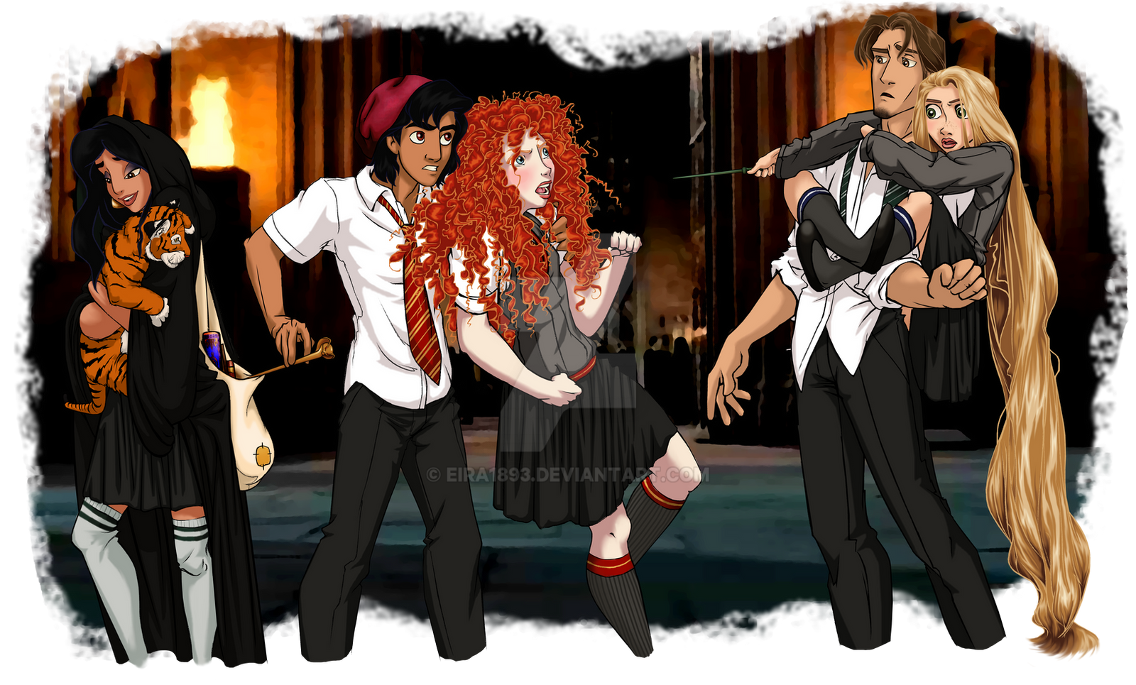 Disney at Hogwarts: 3/8 by Eira1893