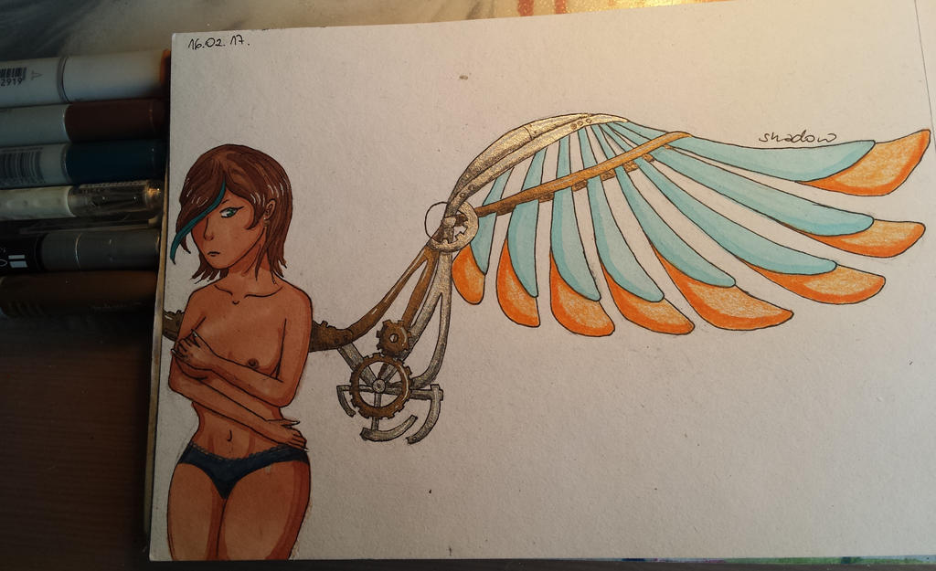 Mechanical wing by xShadowArt
