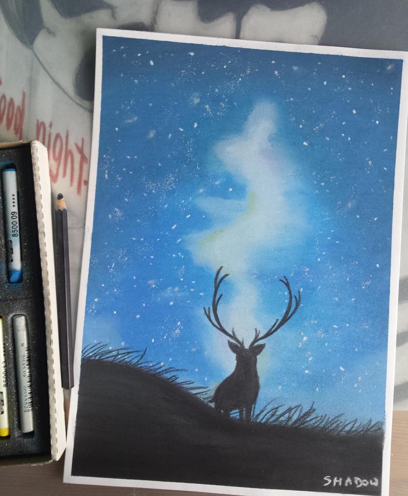 The deer by xShadowArt