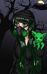 Happy Halloween from the Toxic Queen by minamsfallenangel