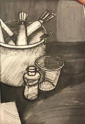 Still Life Sketch by minamsfallenangel