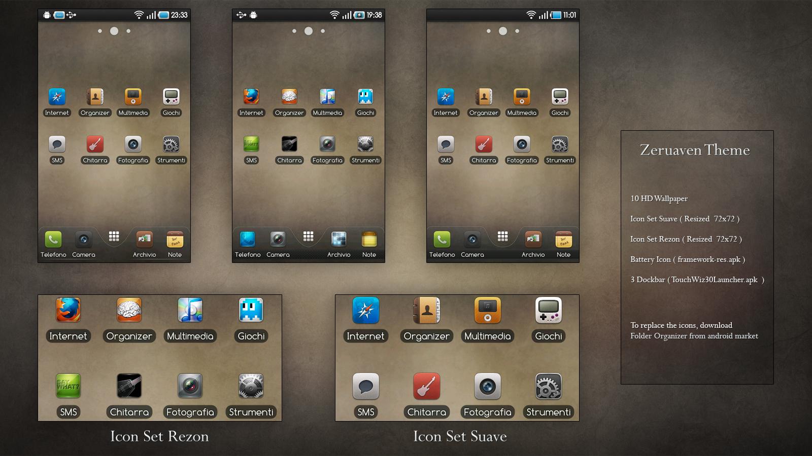 theme] zeruaven - 2 styles hd icons - dock… | Samsung Galaxy