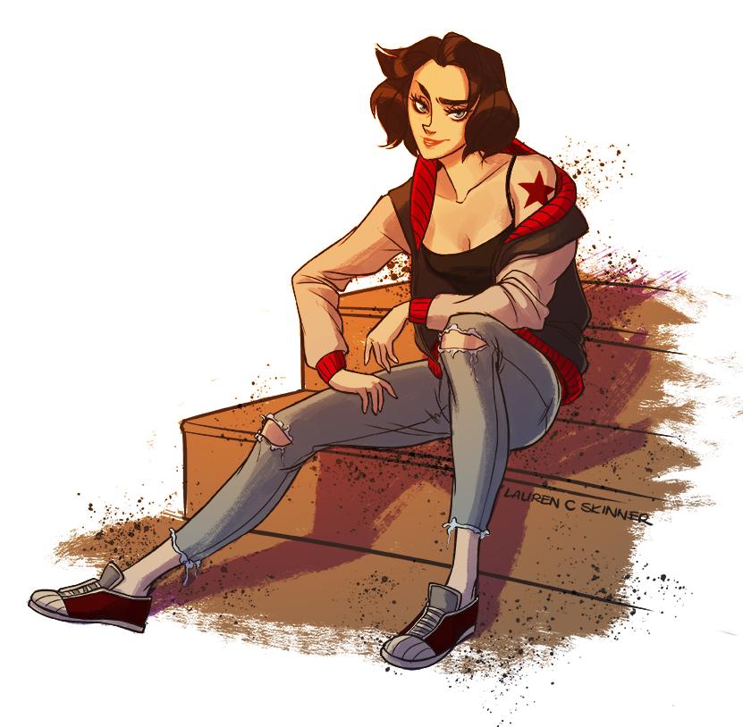 Female Bucky Barnes by laurencskinner on DeviantArt