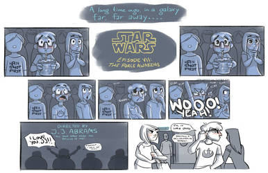 Star Wars 7 Opening Night by johannamation