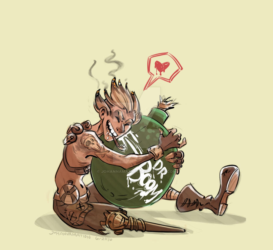 Junkrat Love by johannamation