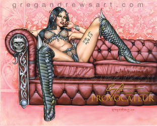 Provocateur Pinup Art Greg Andrews Artist Sexy Fan by Greg-Andrews-Art