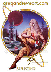 REFLECTING fantasy art greg andrews artist by Greg-Andrews-Art