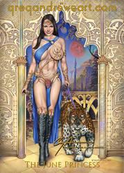 JUNE PRINCESS Sexy Fantasy Art Greg Andrews Artist by Greg-Andrews-Art
