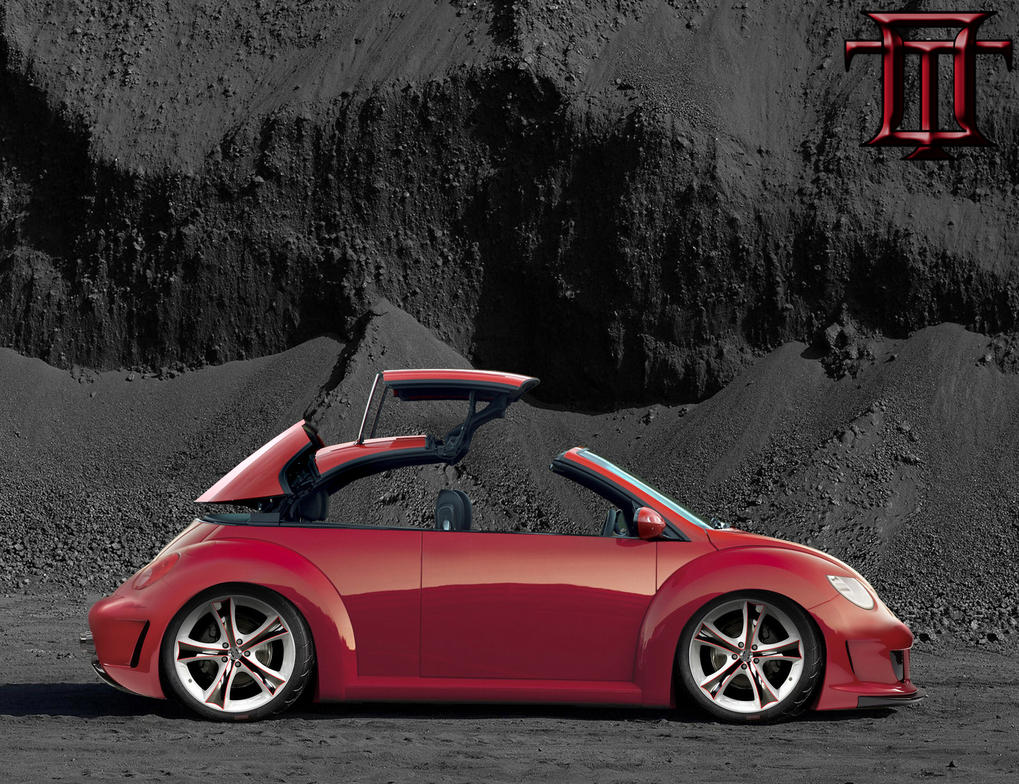 vw new beetle red by oki tuning on deviantart. Black Bedroom Furniture Sets. Home Design Ideas