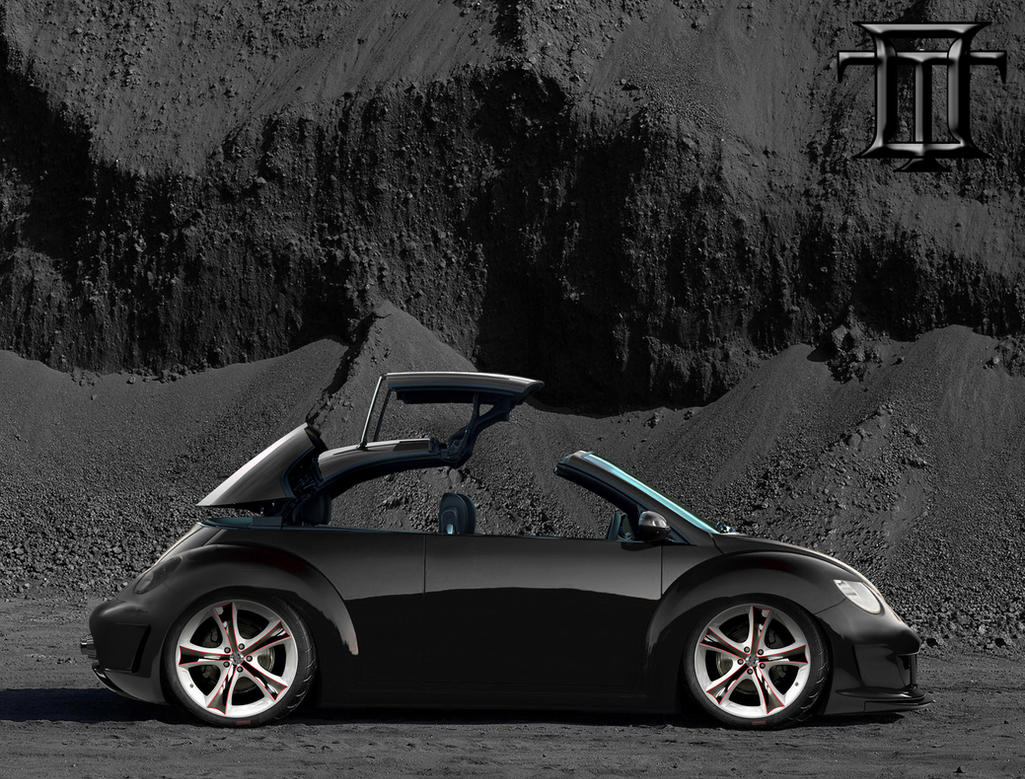 Vw new beetle tuning pictures and photos - Vw New Beetle Black By Oki Tuning
