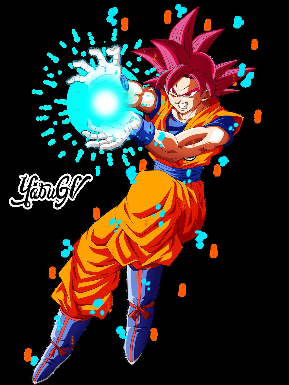 Goku ssj god red by yobugv on deviantart - Sangoku super saiyan god ...