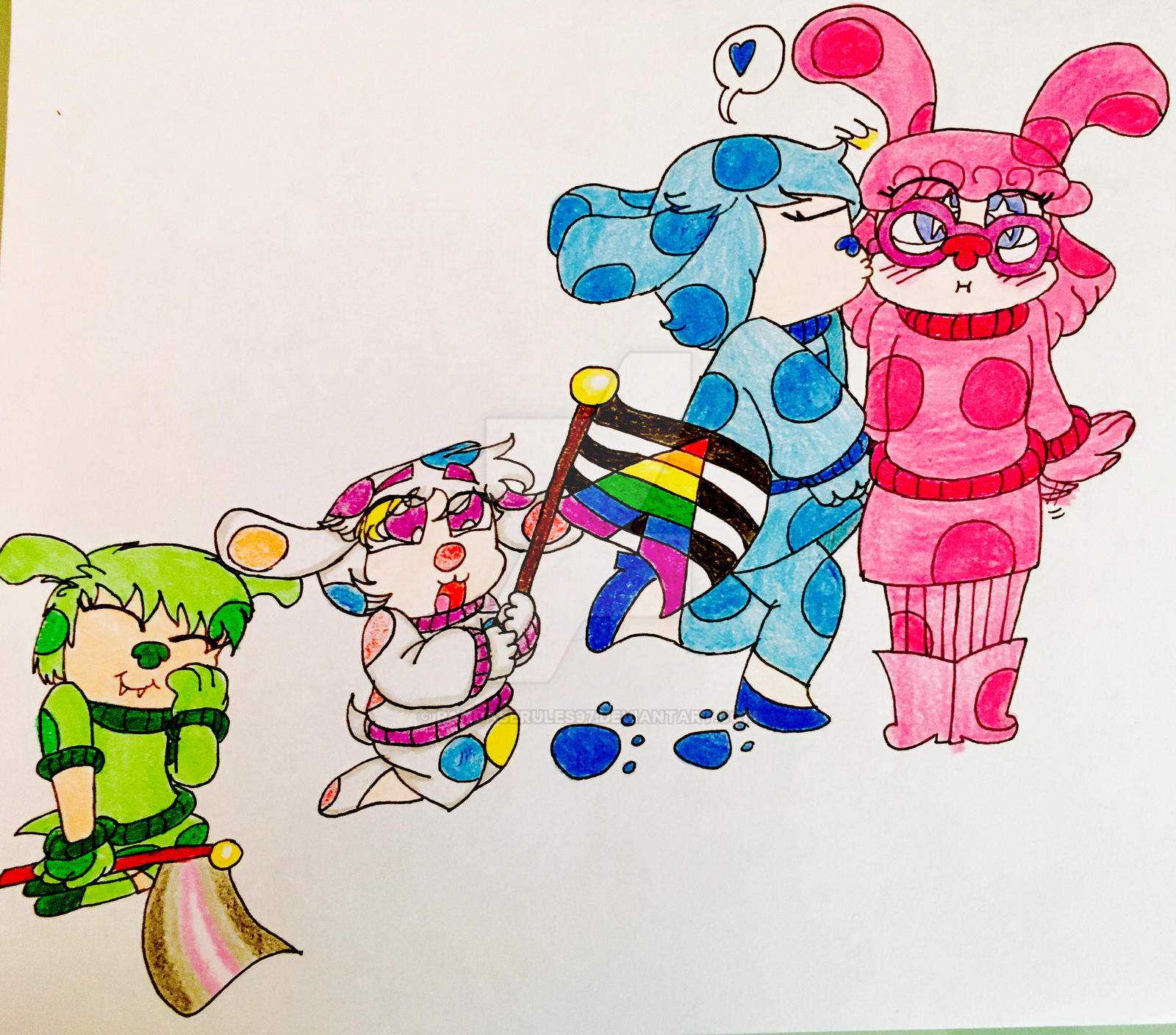 lgbt blue s clues by pandaserules97 dbbc44h