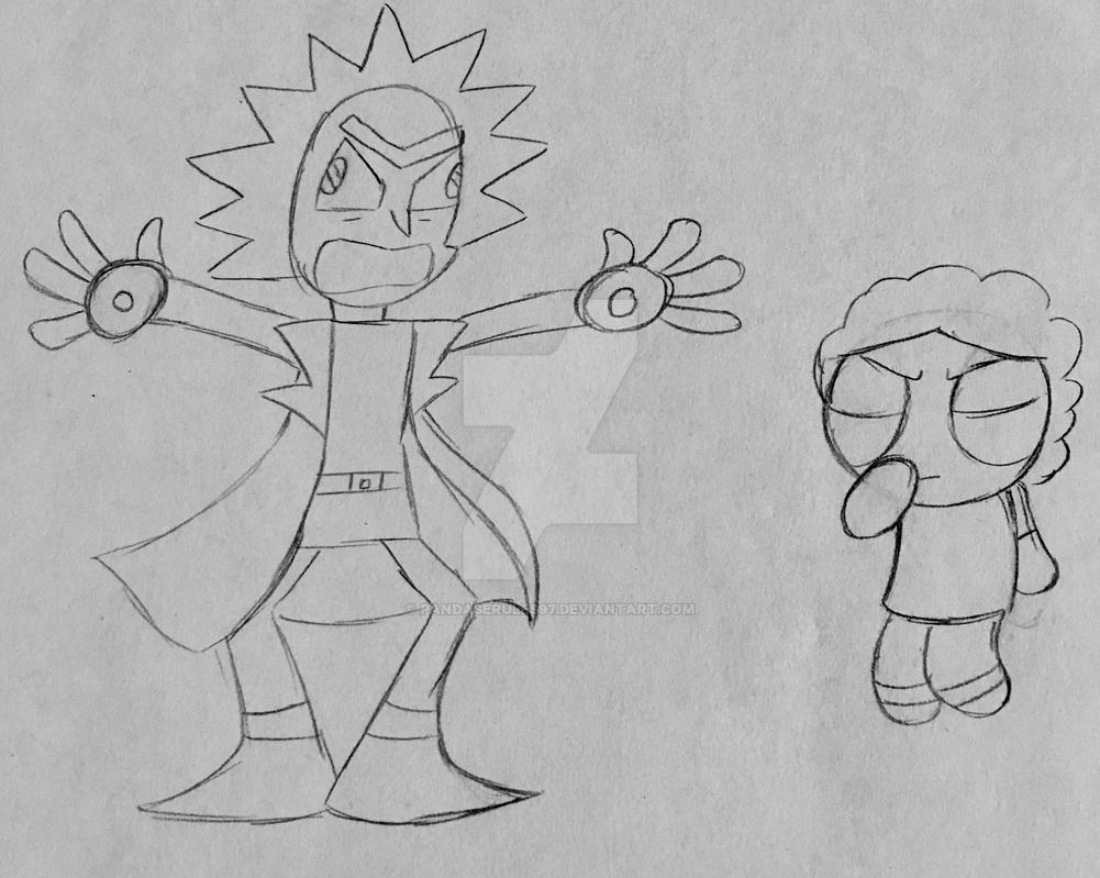 Rick and morty pencil sketch btd 12 by pandaserules97
