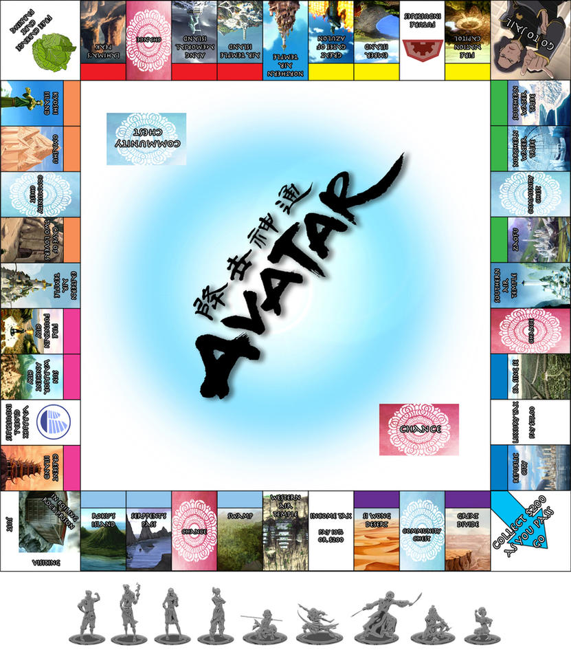 Avatar Monopoly by venonsting