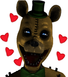 Yellow bear loves you by CircusFredBear2004